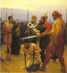 St. Nicholas Saves Three Innocents from Death, by Ilya Repin (1888)